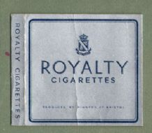 Collectible Old  English cigarette packets Royalty  #473
